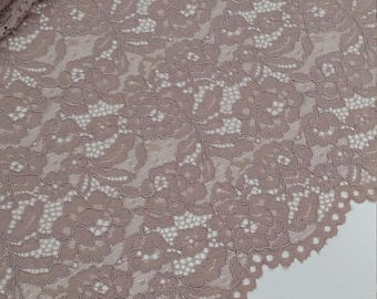 Light lilac lace fabric France Lace Alencon Lace Bridal lace Wedding Lace Embroidery lace Evening dress lace Lingerie Lace LL69903
