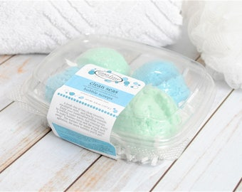 Eucalyptus Mint and Beachy Scented Bubble Scoop Set of Four