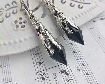 Art Deco Earrings. Filigree Earrings. Downton Abbey. Art Deco Jewelry. Edwardian Earrings. Art nouveau Jewellery. Victorian Earrings.