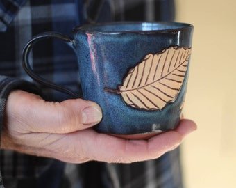 Tea Cup - Coffee Cup, Yellow Leaves Collection