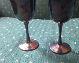 Beautiful Vintage Silver Goblets