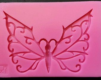 silicone butterfly mold, fondant mold, gum-paste mold, candy mold, chocolate mold, cake mold, polymer clay mold, resin mold - 020-003
