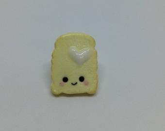 White Marshmallow Fluff on Toast Pin