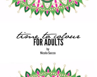 Time to colour for Adults digital colouring book