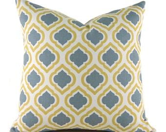 Pillow Cover ANY SIZE Decorative Pillow Natural Pillow Premier Prints Curtis Macon Saffron