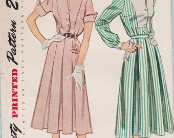 Simplicity 3278 / Vintage 1950s Sewing Pattern / Blouse And Skirt / Size 14 Bust 32