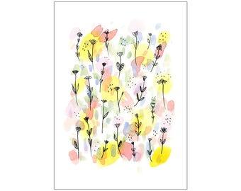 Spring Rain print, various sizes