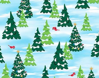 Christmas Fabric - Rudolph The Red Nosed Reindeer Fabric - Christmas Tree Fabric - Christmas Quilt Fabric By The 1/2 Yard
