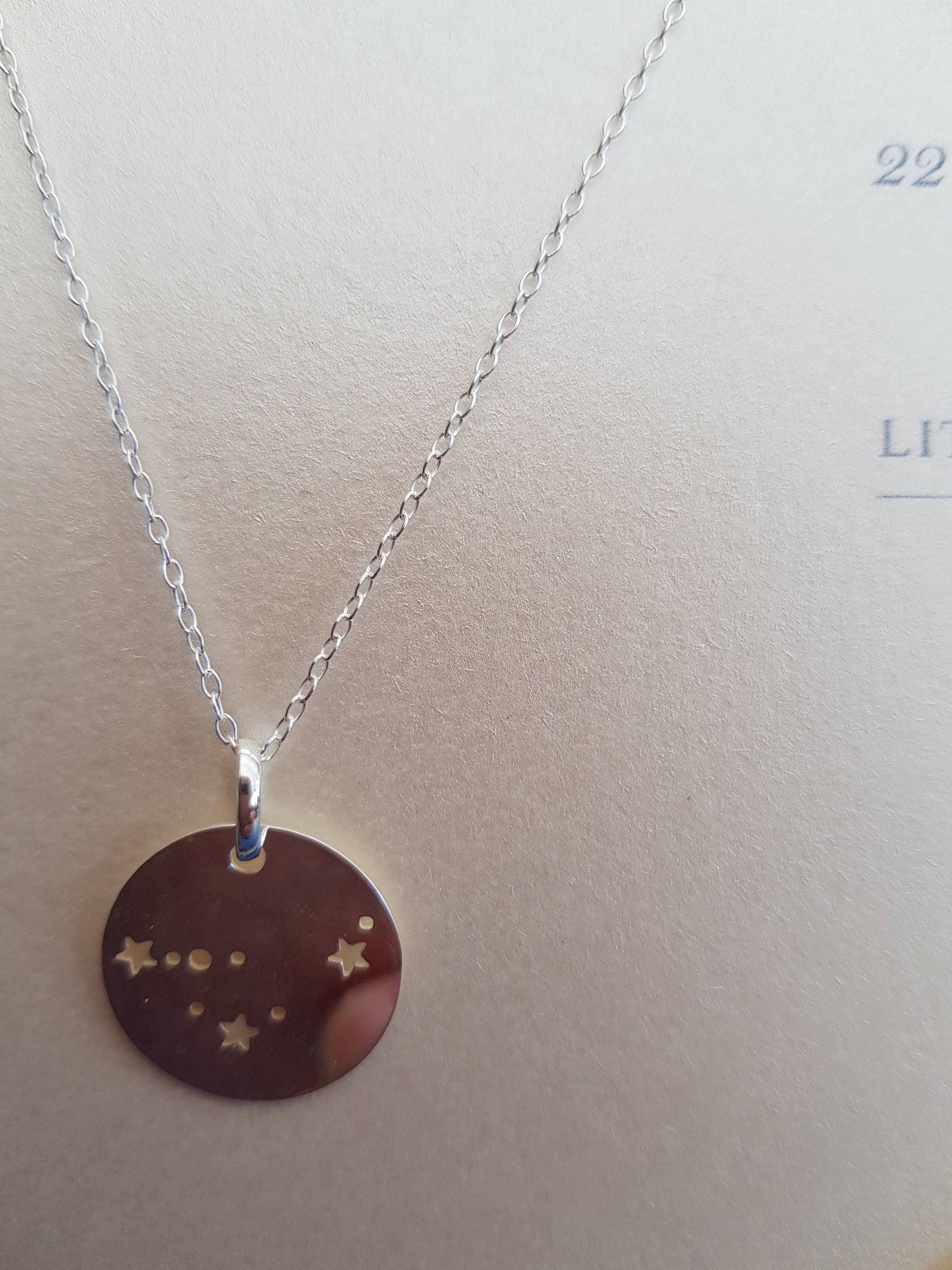 neck customer hand constellation necklace libra stamped favorites pin