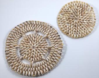 Seashell Trivets Hot Pads Kitchen Beach Decor Shells
