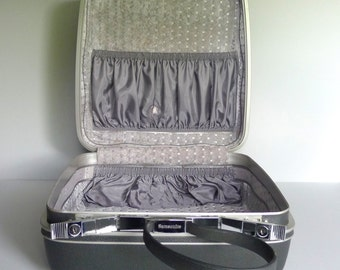 Vintage Gray Square Samsonite Suitcase