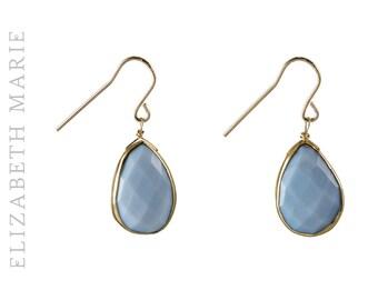 Peruvian Opal Drop Earrings on 14K Gold Filled French Earwire