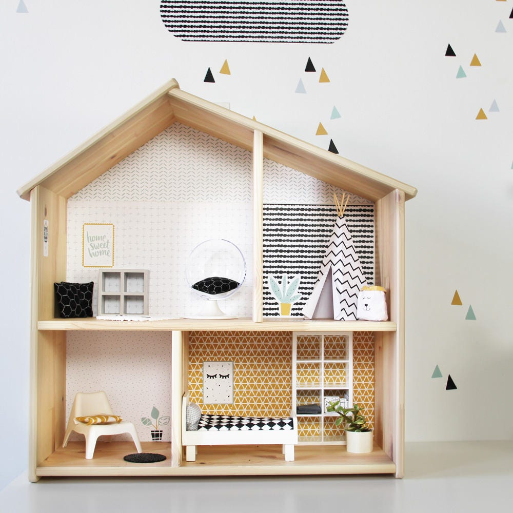 Wall decal lille stuba for the ikea dollhouse flisat - Casa delle bambole ikea ...