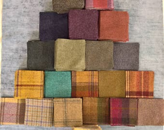 wool patchwork squares 4""