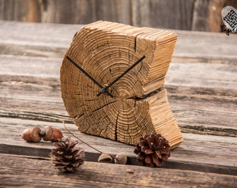 Handcrafted reclaimed wood clock