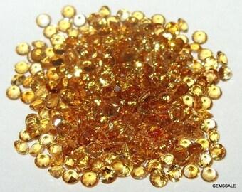 10 pcs Lot 5 mm CITRINE Round FACETED gemstone