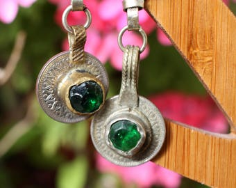 Earrings with Egyptian coins