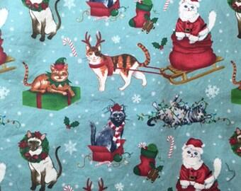 "Christmas kitties kitty cats Fabric 24"""