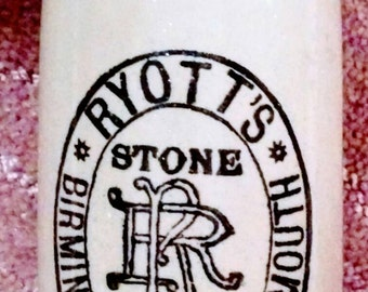 PRICE REDUCED Antique Pearsons of Chesterfield Ryotts Stone Beer Bottle,England