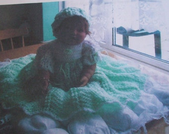crochet pattern for  dress headband and shoes..