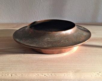 Vintage Copper Bowl/Rustic Kitchen Decor /Copper Home Decor/Vintage Bowl/Vintage Copper/Hammered Copper/Rustic Bowl/Hammered Bowl