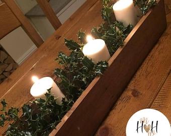 Bespoke Handmade Wooden Table Center Piece