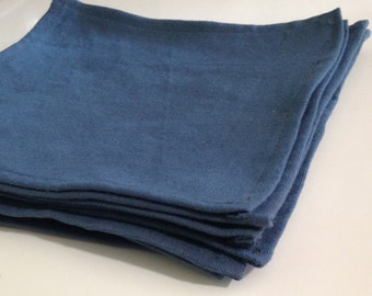Blue cotton Napkins 8, Cloth napkins, cotton napkins, Set of 8 canvas napkins