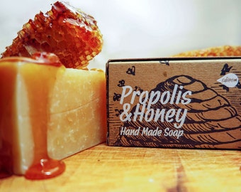 Honey Soap,all natural soap,propolis and honey soap,propolis soap,cold process soap,vegan soap,organic soap,bar soap,men soap,gift for all