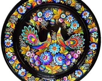 Decorative plate IRIDESCENT RAINBOW 50 cm