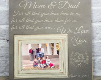 Th anniversary gifts for parents personalized anniversary