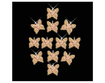 Butterflies with Hearts..... Shower Curtain Ring Ornaments