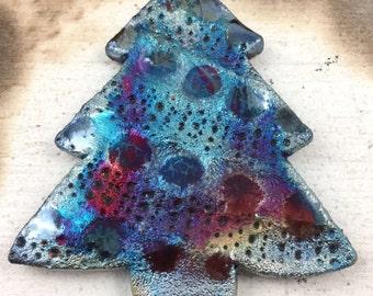 Raku Ceramic Christmas Holiday Ornament Raku Jewelry Supply Handmade              by  MAKUstudio