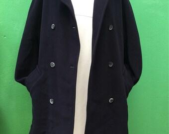 MARELLA   Made in Italy   Vintage Coat   Marella Coat   Navy Coat   90s Coat   Vintage Coat   Double breasted Jacket   Angora Coat   Wool Coat  
