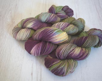 "Hand Dyed Yarn - ""Wish You Were Here"" Merino Sock, 4ply, Indie Dyed Yarn, 100g Skein"