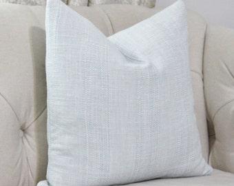 Sky Blue Pillow - Light Blue Woven Stripe Pillow Cover - Cowtan & Towt Throw Pillow - Designer Pastel Blue Pillow - Motif Pillows