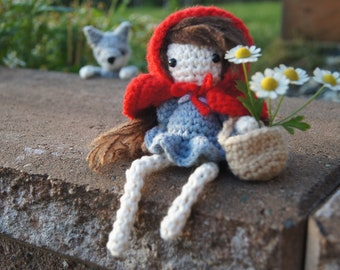 Crochet Little Red Riding Hood Amigurumi Set