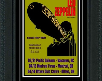 Led Zeppelin 1970  Concert POSTER + TICKET  Ready to frame!  LOOK!  canada tour