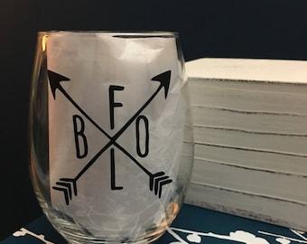 Buffalo Arrow - Buffalo, NY Wine Glass