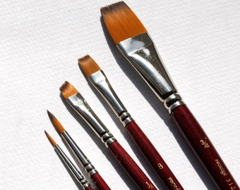 Watercolor brushes, Paint brushes, Fine art brushes, Tools, art and craft supplies, watercolor painting brushes, brush kit