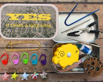 Travel Knitting Notions Kit: YES it Takes a Long Time