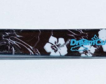 DreamCut Black with White flowers Expert Slant Tweezers
