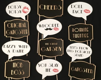 Great Gatsby Themed Party Photo Booth Props