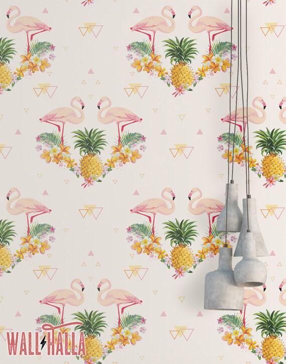 ananas g om trique flamant rose wallpaper fond d cran. Black Bedroom Furniture Sets. Home Design Ideas