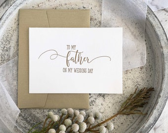 Father of The Bride, To My Father Card, To My Father On My Wedding Day Card, Father of the Groom Gift, Dad From Daughter, Vintage Wedding