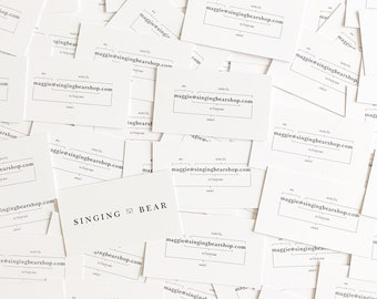 Singing Bear Business Cards