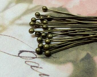 20 mm Antique Bronze Ball pin Findings (t.c)