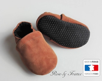 Non slip soles and leather baby shoes