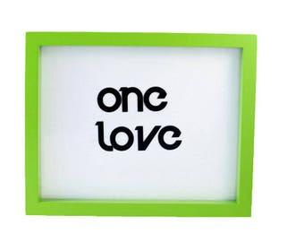 One Love Decal - Vinyl Sticker - Car Decal  - Window Sticker - Macbook Pro Decal - One Love Vinyl Car Sticker