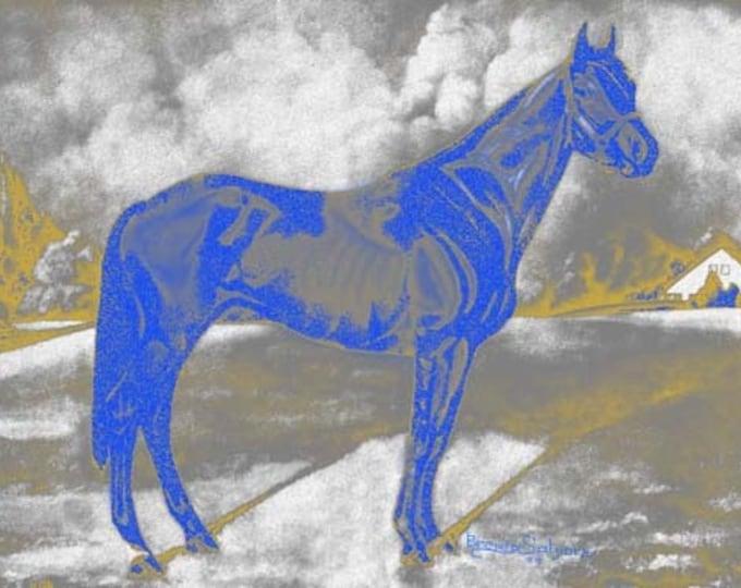 Kentucky Man O War  On the Farm Giclee Print on Fine Art Paper or Canvas Brenda Salyers