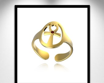 Self-adjusting to life cross gold ring _ ring gold cross of self-tuning life
